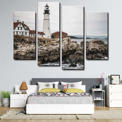 Lighthouse 4-Piece Canvas Wall Art Set