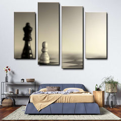 Chess 4-Piece Canvas Wall Art Set