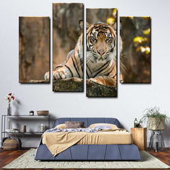 Tiger 4-Piece Canvas Wall Art Set