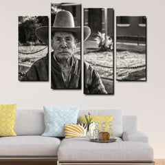 Guatemala Cowboy 4-Piece Canvas Wall Art Set