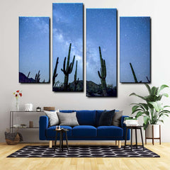 Awesome Space 4-Piece Canvas Wall Art Set