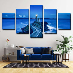 Lighthouse At Plouzane, France 5-Piece Canvas Wall Art Set