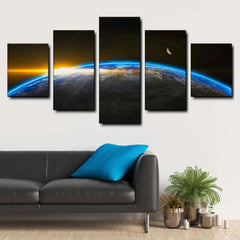 Awesome Space 5-Piece Canvas Wall Art Set