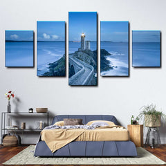 Coastal Lighthouse 5-Piece Canvas Wall Art Set