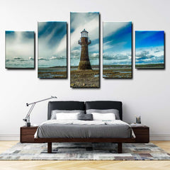 Old Lighthouse Ruins 5-Piece Canvas Wall Art Set