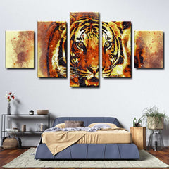 Tiger 5-Piece Canvas Wall Art Set