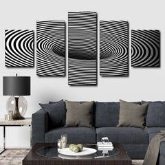 Black Hole Art 5-Piece Canvas Wall Art Set
