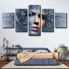 Fantasy Face 5-Piece Canvas Wall Art Set