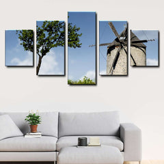 Windmill 5-Piece Canvas Wall Art Set