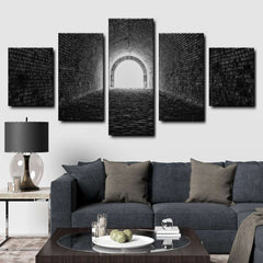 Mystical Tunnel 5-Piece Canvas Wall Art Set
