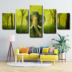 Elephant 5-Piece Canvas Wall Art Set