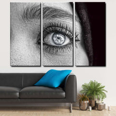 Woman Profile 3-Piece Canvas Wall Art Set