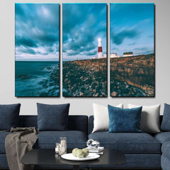 Lighthouse 3-Piece Canvas Wall Art Set