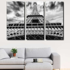 Eiffel Tower, Paris 3-Piece Canvas Wall Art Set