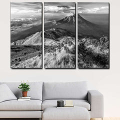 Volcano, Indonesia 3-Piece Canvas Wall Art Set