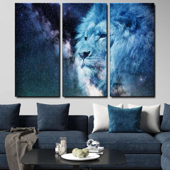 Lion 3-Piece Canvas Wall Art Set
