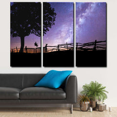 Awesome Space 3-Piece Canvas Wall Art Set