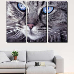 Cat 3-Piece Canvas Wall Art Set