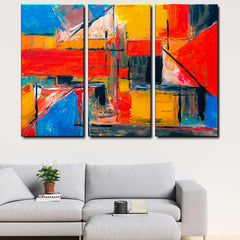 Modern Abstract 3-Piece Canvas Wall Art Set