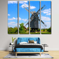 Windmill 4-Piece Canvas Wall Art Set