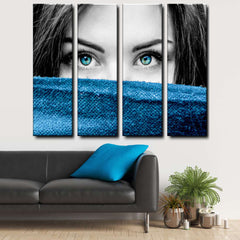 Blue Eyes 4-Piece Canvas Wall Art Set