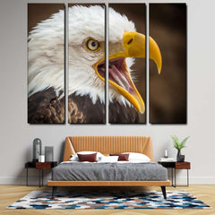 White Tailed Eagle 4-Piece Canvas Wall Art Set