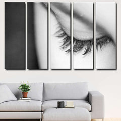 Eyelashes 5-Piece Canvas Wall Art Set