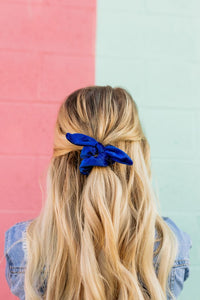 Village Co x ANDi: Royal Blue Scrunchie