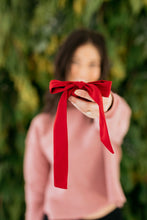 Load image into Gallery viewer, Village Co x ANDi: Ruby Long Bow Scrunchie