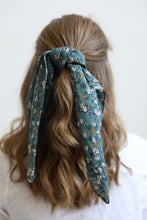 Load image into Gallery viewer, Dark Sage Floral Bandana