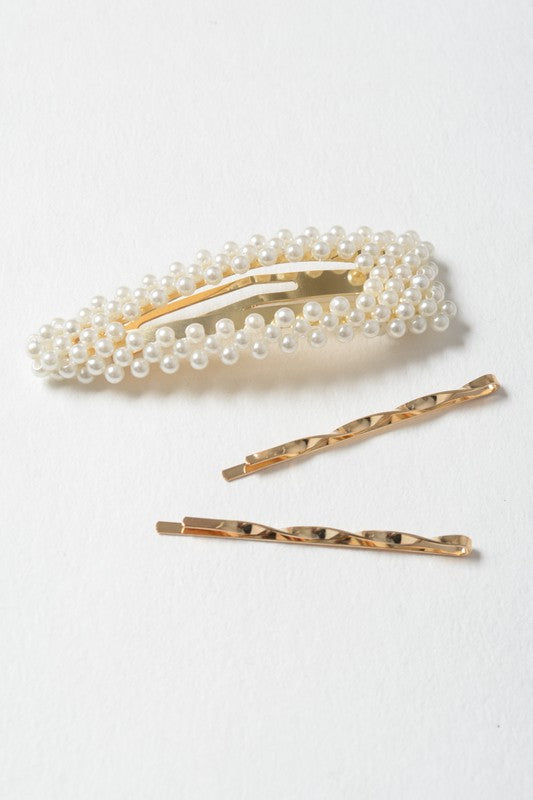 Avenue Montaigne Clip + Bobby Pin Set
