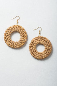 Key West Earring Collection: Rattan Hoops