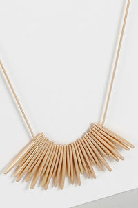 Midtown Metal Bar Fringe Necklace