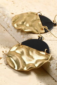 Helsinki Earring Collection: Gold and Black Circle