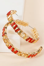 Load image into Gallery viewer, Helsinki Earring Collection: Red and Gold Hoops