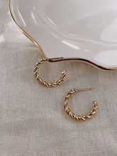 Load image into Gallery viewer, Paris Jewelry Collection: Twist Mini Hoops
