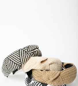 Brixton Rattan Knotted Headband in Three Colors