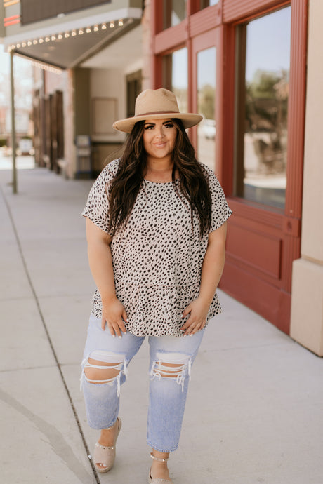 Belize Dotted Print Top