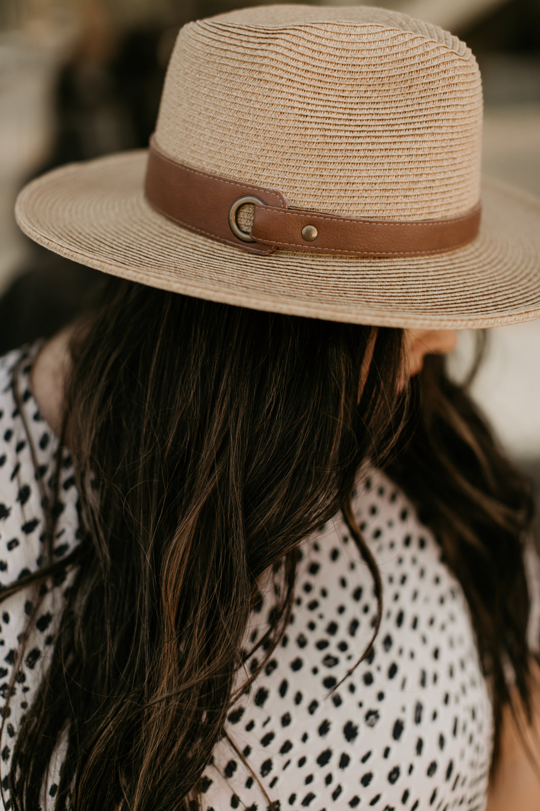 Venice Beach Accessory Collection: Leather Strap Panama Hat