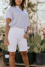Load image into Gallery viewer, Nola White Denim Shorts