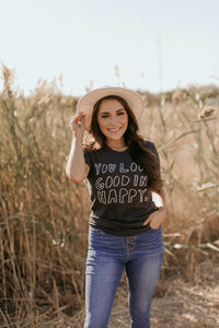Vermont Tee Collection: You Look Good in Happy