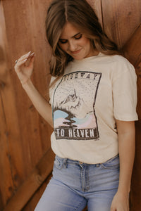 Route 66 Cream Graphic Tee