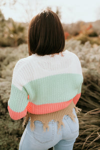 Jacksonville Frayed Striped Sweater