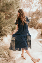 Load image into Gallery viewer, Naples Navy Textured Chiffon Dress