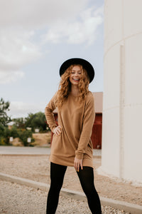 Meridian Camel Pullover Tunic