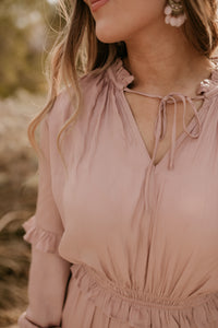 Luca Dusty Rose Maxi Dress