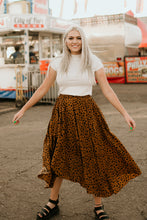 Load image into Gallery viewer, Highland Leopard Midi Skirt