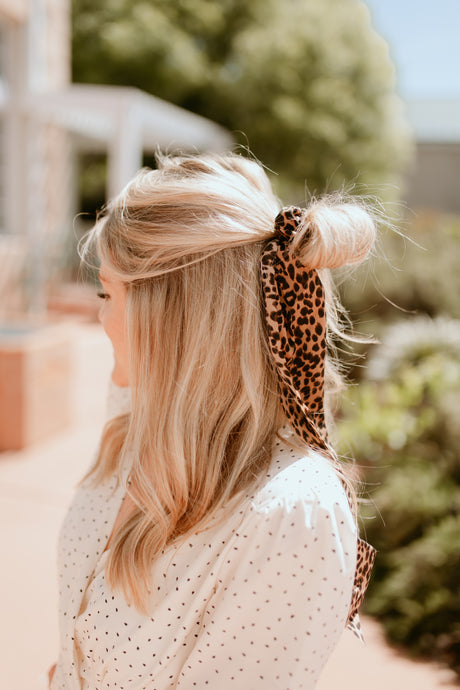 Vienna Scrunchie with Scarf Collection: Animal Print