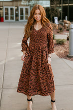 Load image into Gallery viewer, Pittsburgh Animal Print Smocked Dress