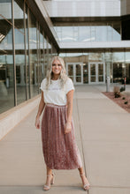 Load image into Gallery viewer, Sydney Crushed Velvet Blush Skirt